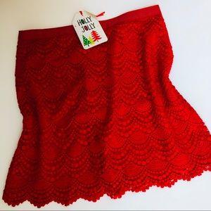 Club Monaco-Crochet NWT skirt